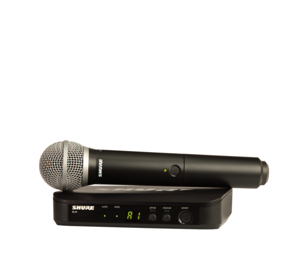 Shure BLX24/PG58 Handheld Wireless System with PG58 Band H9