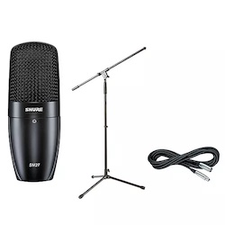 Shure SM27 SC Condenser Mic with Cable and Stand