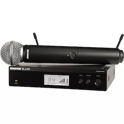 Shure BLX24R/SM58 Wireless System with Rackmountable Receiver and SM58 Microphone Capsule Band H9
