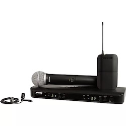 Shure BLX1288 Combo System with CVL Lavalier Microphone and PG58 Handheld Microphone Band H9