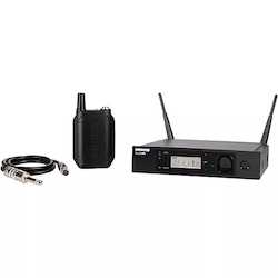 Shure GLXD14R Advanced Guitar Wireless System with GLXD4R Rackmountable Receiver Band 1 Black