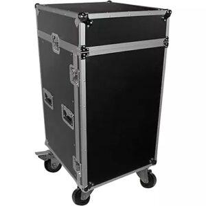 ProX T-18MRSS 18U Rack x 10U Top Mixer DJ Combo ATA Flight Case 18 RU Space