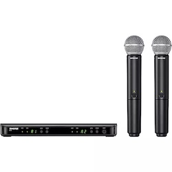 Shure BLX288/SM58 Wireless Dual Vocal System with two SM58 Handheld Transmitters Band H10