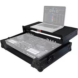 ProX XS-DDJSRLTBL Black ATA Style Flight Road Case with Glide Laptop Shelf for DDJ-SR and DDJ-RR Controller Black