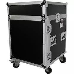 ProX T-12MRSS 12U Rack and 10U Top Mixer DJ Combo ATA Flight Road Case Black